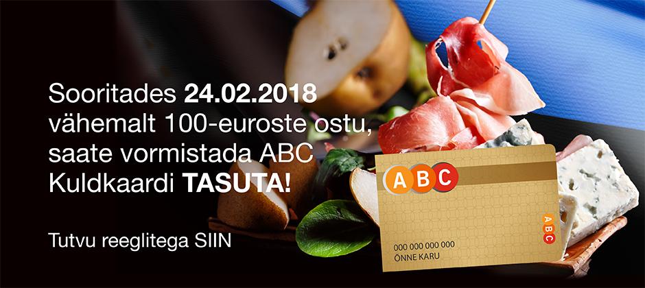 ABC Kuldkaart tasuta!