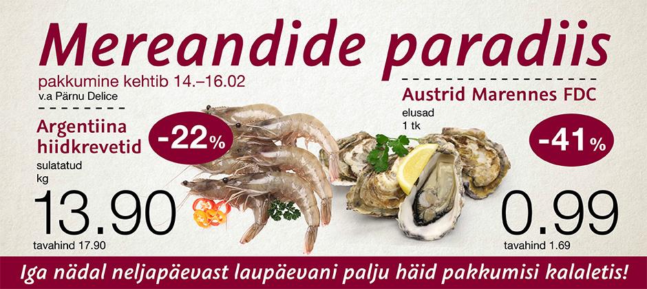 Viimsi Delice ja Solaris toidupoes on mereandide paradiis 14.02-16.02