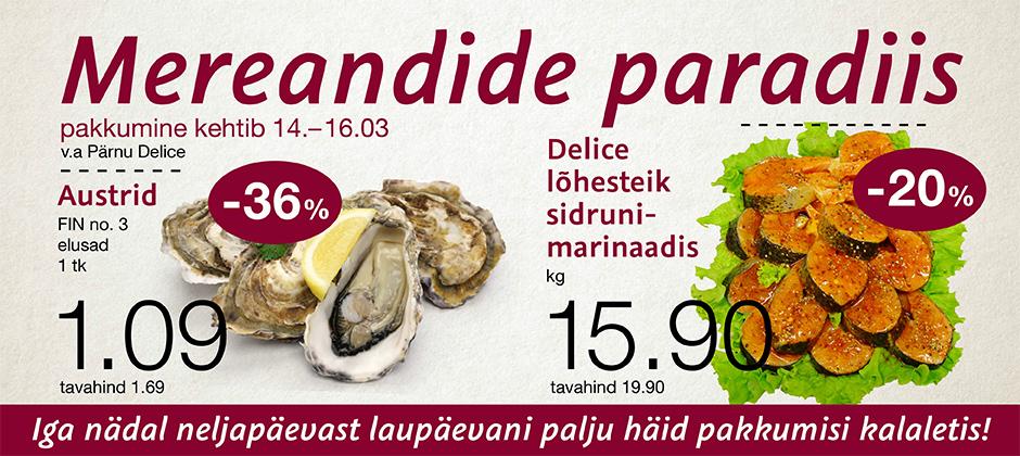 Mereandide paradiis 14.03-16.03