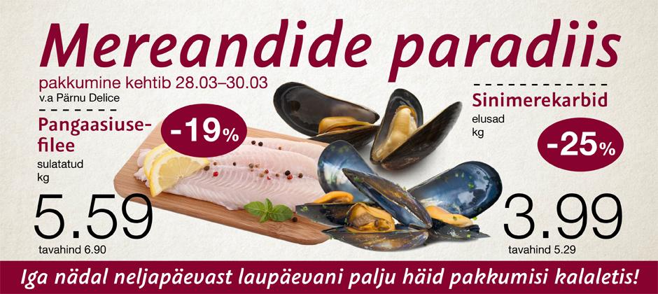 Mereandide paradiis 28.03-30.03