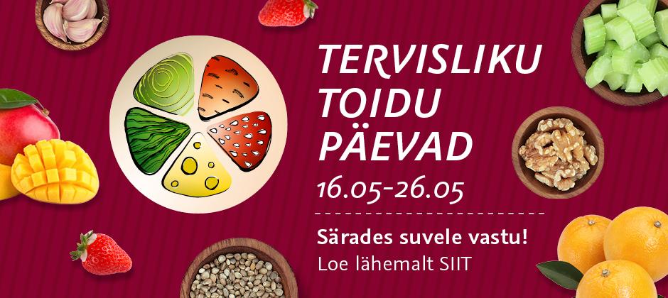 Delice ja Solaris Tervisliku toidu päevad 16.05-26.05